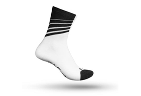 Racing Stripes Sock White/Black