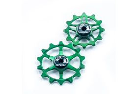 JRC 14/12T Ceramic Jockey Wheels | Keramiska rulltrissor Sram Eagle Emerald Green