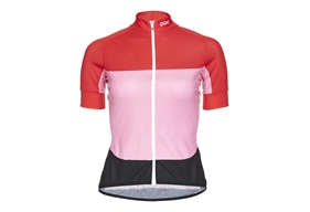 POC Essential Road W's Light Jersey Prismane Red/Altair Pink